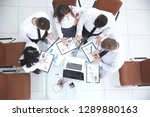 top view. business team... | Shutterstock . vector #1289880163