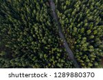 Arial View Of A Highway Through ...
