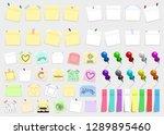 mega pack of colored office... | Shutterstock .eps vector #1289895460