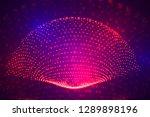 vector 3d background. wave of... | Shutterstock .eps vector #1289898196
