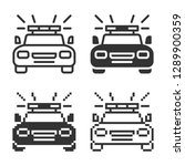 police car icon in different... | Shutterstock . vector #1289900359