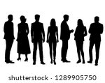 set of vector silhouettes of ... | Shutterstock .eps vector #1289905750