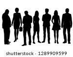 set of vector silhouettes of ... | Shutterstock .eps vector #1289909599