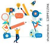 design studio  designing ... | Shutterstock .eps vector #1289911546