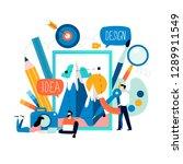 design studio  designing ... | Shutterstock .eps vector #1289911549