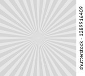 grey abstract sun rays vector... | Shutterstock .eps vector #1289916409