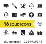 service icons set with reset 24 ...
