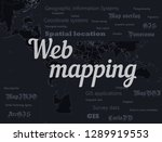 geographic information systems  ... | Shutterstock .eps vector #1289919553