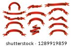 set of ribbon banners in... | Shutterstock .eps vector #1289919859