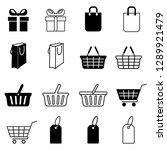 set of shopping icons. gift box ... | Shutterstock .eps vector #1289921479