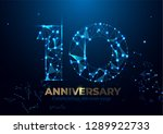 anniversary 10. geometric...   Shutterstock .eps vector #1289922733