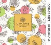 background with citrus fruitst  ... | Shutterstock .eps vector #1289924800