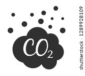 co2 gas emission icon on a... | Shutterstock .eps vector #1289928109