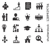 career path icons. black... | Shutterstock .eps vector #1289929756