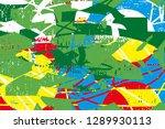 distressed multicolor...   Shutterstock . vector #1289930113