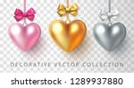 set of gold  silver and pink... | Shutterstock .eps vector #1289937880