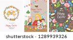 cute vector cards  posters and... | Shutterstock .eps vector #1289939326