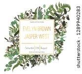 wedding floral invitation ... | Shutterstock .eps vector #1289940283