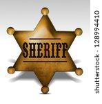 sheriff badge eps10 | Shutterstock .eps vector #128994410