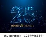 anniversary 25. geometric... | Shutterstock .eps vector #1289946859
