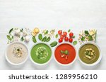 flat lay composition with... | Shutterstock . vector #1289956210
