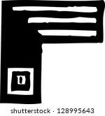 black and white vector... | Shutterstock .eps vector #128995643