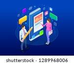 isometric freelancing  creative ... | Shutterstock . vector #1289968006