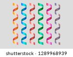 twisted spiral colored ribbons. ...   Shutterstock .eps vector #1289968939