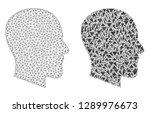 mesh vector gentleman profile...   Shutterstock .eps vector #1289976673