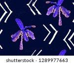 ultraviolet exotic pattern....   Shutterstock . vector #1289977663