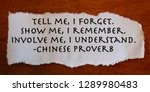 ancient words of wisdom on... | Shutterstock . vector #1289980483