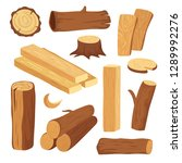 cartoon timber. wood log and... | Shutterstock .eps vector #1289992276
