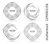 halftone circular vortex dotted ... | Shutterstock . vector #1290001156