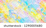 colorful abstract geometric... | Shutterstock . vector #1290005680