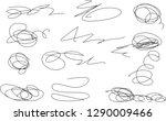 vector light set of hand drawn...   Shutterstock .eps vector #1290009466