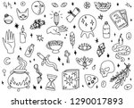 mystical icons isolated vector... | Shutterstock .eps vector #1290017893