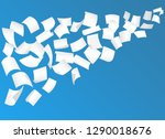 falling paper sheets with... | Shutterstock .eps vector #1290018676