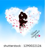 valentine holiday background... | Shutterstock .eps vector #1290022126