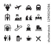 airport icons set | Shutterstock .eps vector #1290024286
