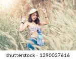 portrait of a young beautiful...   Shutterstock . vector #1290027616