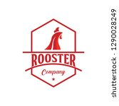 rooster company logo vector... | Shutterstock .eps vector #1290028249