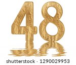 numeral 48  forty eight ... | Shutterstock . vector #1290029953