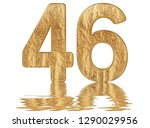 numeral 46  forty six ... | Shutterstock . vector #1290029956