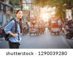 Young Traveler With Backpack O...