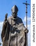 a statue of pope john paul ii...   Shutterstock . vector #1290040636