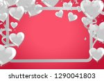 valentines background with... | Shutterstock .eps vector #1290041803
