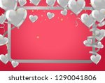 valentines background with... | Shutterstock .eps vector #1290041806