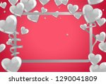 valentines background with... | Shutterstock .eps vector #1290041809