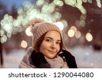 beautiful girl in light pink... | Shutterstock . vector #1290044080