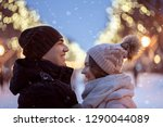 happy cheerful couple smile ... | Shutterstock . vector #1290044089
